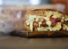 Salami and grilled cheese